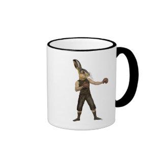 Boxing Hare Ringer Mug