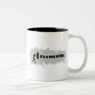 Boxing Is a Way of Life Two-Tone Mug
