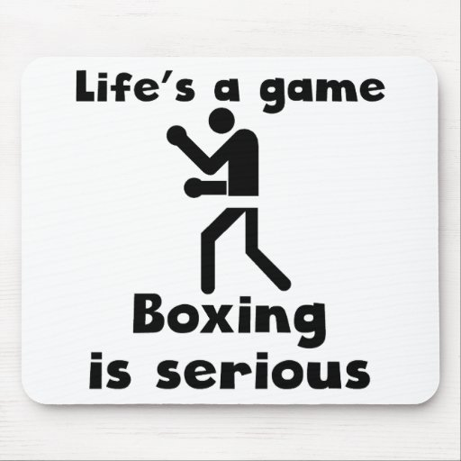 Boxing Is Serious Mouse Pad