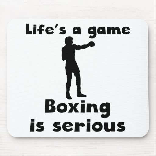 Boxing Is Serious Mousepads