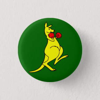 Boxing Kangaroo 3 Cm Round Badge