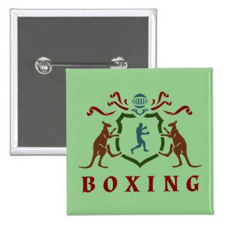 Boxing Kangaroo Blazon Button