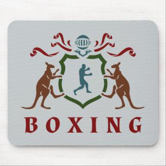 Boxing Kangaroo Blazon Mousepad