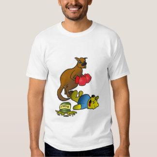 Boxing Kangaroo (Clean) T-shirts