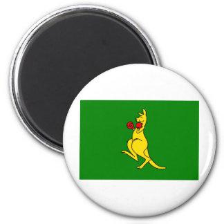 "Boxing kangaroo collector item""s 6 cm round magnet"