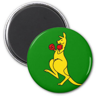 "Boxing kangaroo collector item""s 6 cm round magnet"