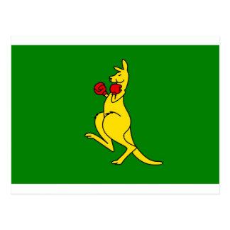 """Boxing kangaroo collector item""""s postcard"""