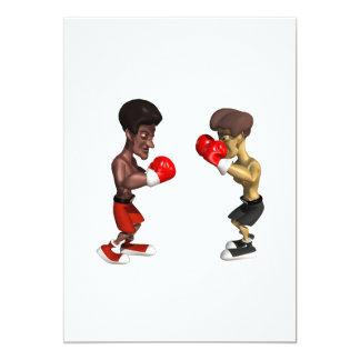 Boxing Match 13 Cm X 18 Cm Invitation Card