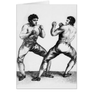 Boxing Match Card