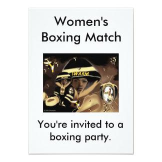 Boxing Match Invitation