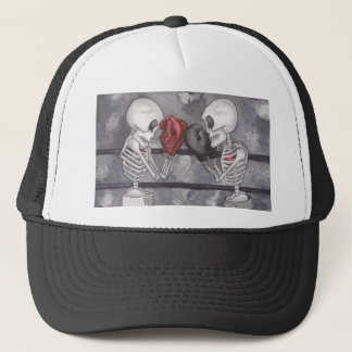 Boxing Skeleton Trucker Hat