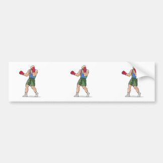 boxing stance boxer graphic bumper sticker