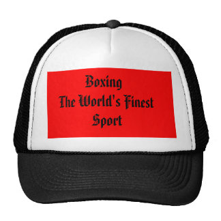 Boxing the World's Finest Sport Hats