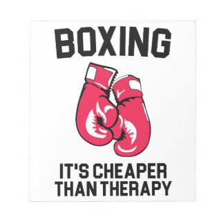 Boxing Therapy Notepad