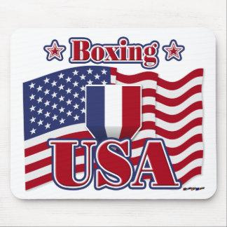 Boxing USA Mouse Pads