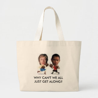 boxing, WHY CAN'T WE ALL JUST GET ... - Customized Jumbo Tote Bag