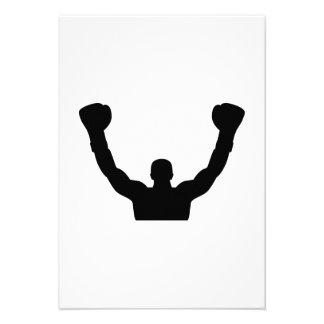 Boxing winner champion personalized invite