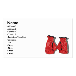 BoxingGlovesCard, Name, Address 1, Address 2, C... Business Card