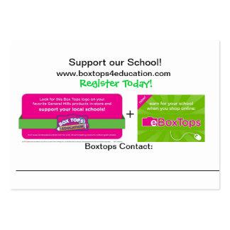 Boxtops Promotioal Cards Business Card Templates