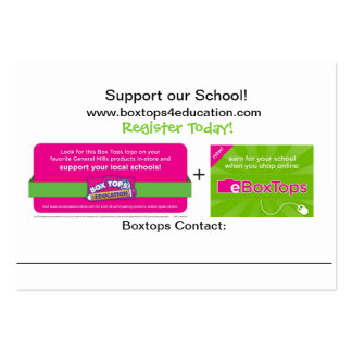 Boxtops Promotional Card Business Card