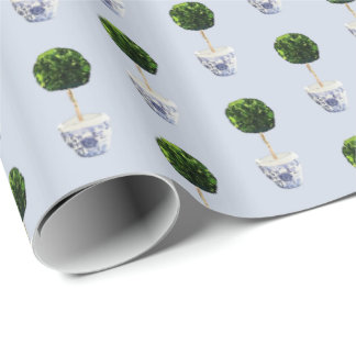 Boxwood Topiary Cachepot by Redux121DesignStudio Wrapping Paper