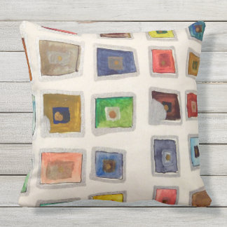 Boxy Watercolor Color Study Pillow