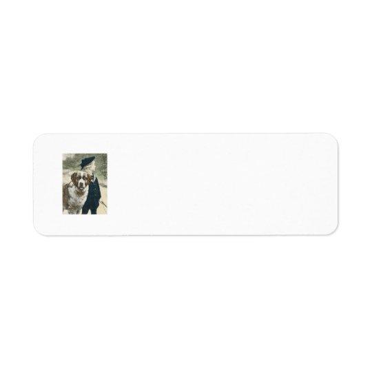 Boy and Dog Adorable Return Address Lable Return Address Label