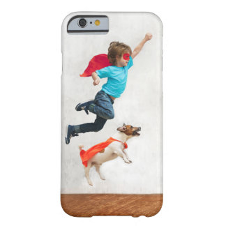 Boy and Dog Superheroes Barely There iPhone 6 Case