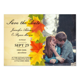 boy and girl kissing love in road city/fall theme card