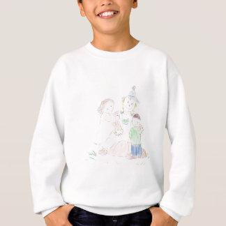 Boy and Girl with Scarecrow Sweatshirt