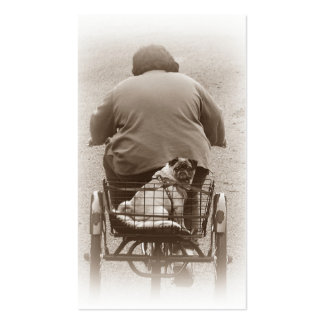 Boy And Pug Dog Going For A Ride Business Cards