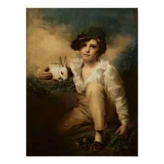 Boy and Rabbit, c.1814 Poster