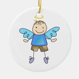 BOY ANGEL CERAMIC ORNAMENT