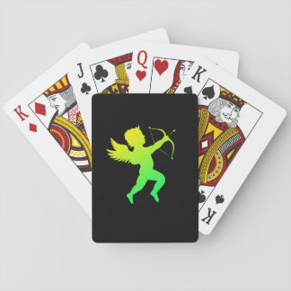 Boy Angel Green Yellow Playing Cards