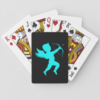Boy Angel Turquoise Black Playing Cards