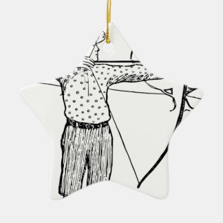 Boy Archer Illustration Ceramic Star Decoration