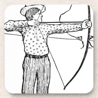 Boy Archer Illustration Coaster