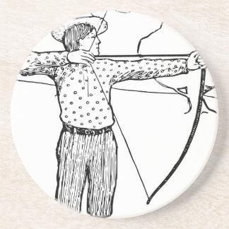 Boy Archer Illustration Coasters