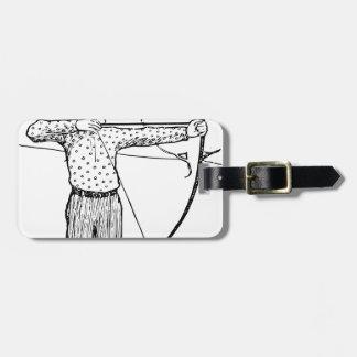 Boy Archer Illustration Luggage Tag