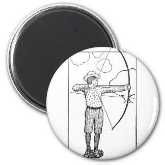 Boy Archer Illustration Magnet