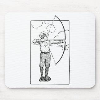 Boy Archer Illustration Mouse Pad