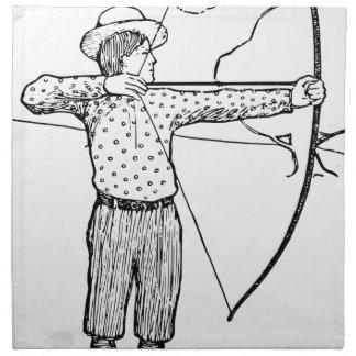 Boy Archer Illustration Napkin