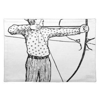 Boy Archer Illustration Placemat