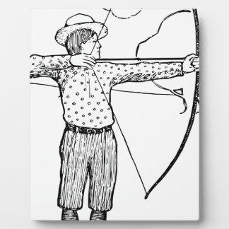 Boy Archer Illustration Plaque