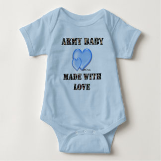 Boy Army Baby Made with Love byDani Baby Bodysuit
