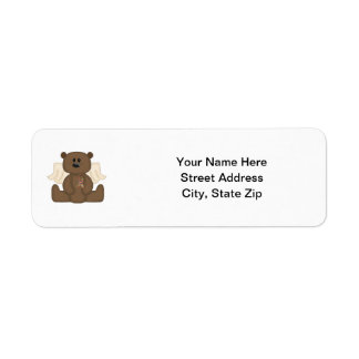 Boy Autism Awareness Bear Return Address Label
