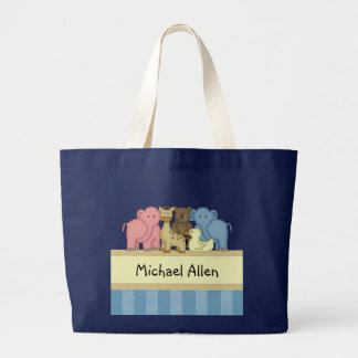 Boy Baby or Toddler Personalized Travel Tote Jumbo Tote Bag