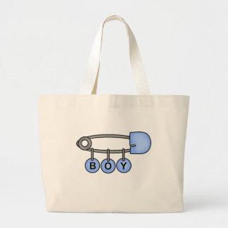 Boy Baby Pin Large Tote Bag