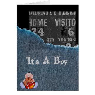 Boy-baby shower card