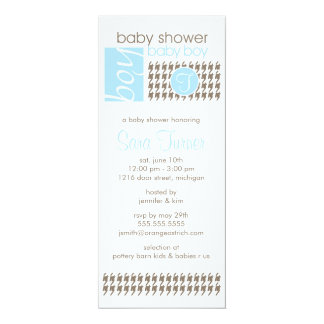 Boy Baby Shower Invitation - Trendy